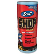 "Scott Shop Roll Towels - Towel - Fresh Scent - 10.40"" Width X 11"" Length - 55 - Blue (75147ct)"