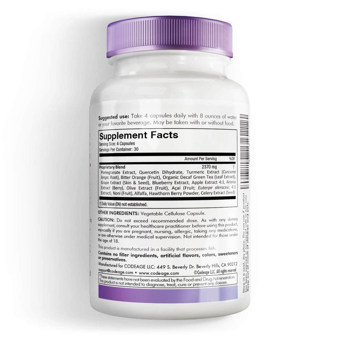 Codeage Polyphenols Supplement Organic Green Tea Pills