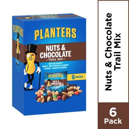 Planters Trail Mix Pack, Nut and Chocolate, 6 Pouches, 7.5 oz - Trail Mix For Halloween