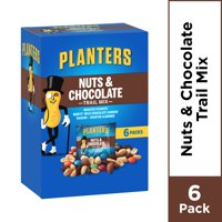 Planters Nuts and Chocolate Trail Mix, 6 ct - Bags, 7.5 oz Box