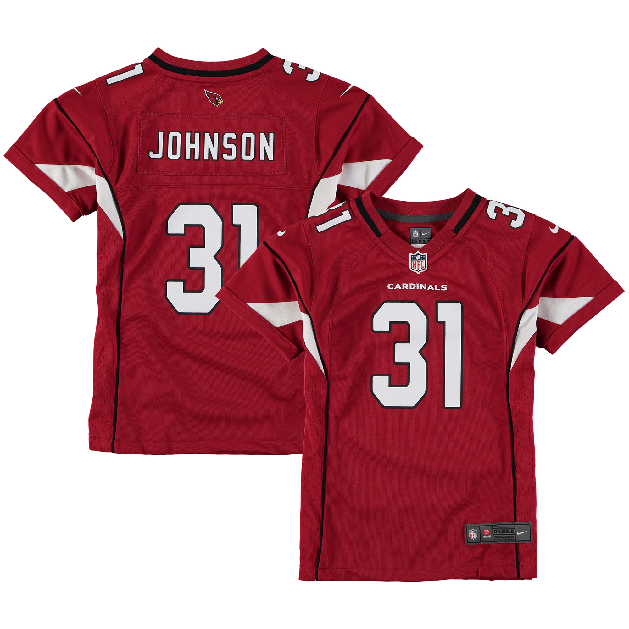 David Johnson Arizona Cardinals Nike Girls Youth Game Jersey - Cardinal