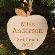 Personalized Teacher Wood Ornament - Special Teacher Gift