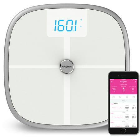 Koogeek Fda Approved Smart Health Scale Bluetooth Wi Fi Sync Measures Muscle Bone Mass Bmi Bmr And Visceral Fat Weight