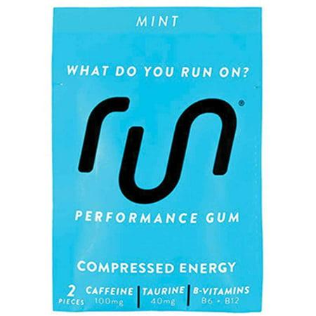 Run Gum Energy Chewing Gum - Pack of 12