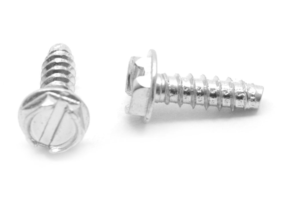 #8 x 1//2 Slotted Hex Washer Head Self Tapping Sheet Metal Screws SMS 2000