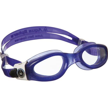 Aqua Sphere Kaiman Lady Swim Goggle, Violet, Clear