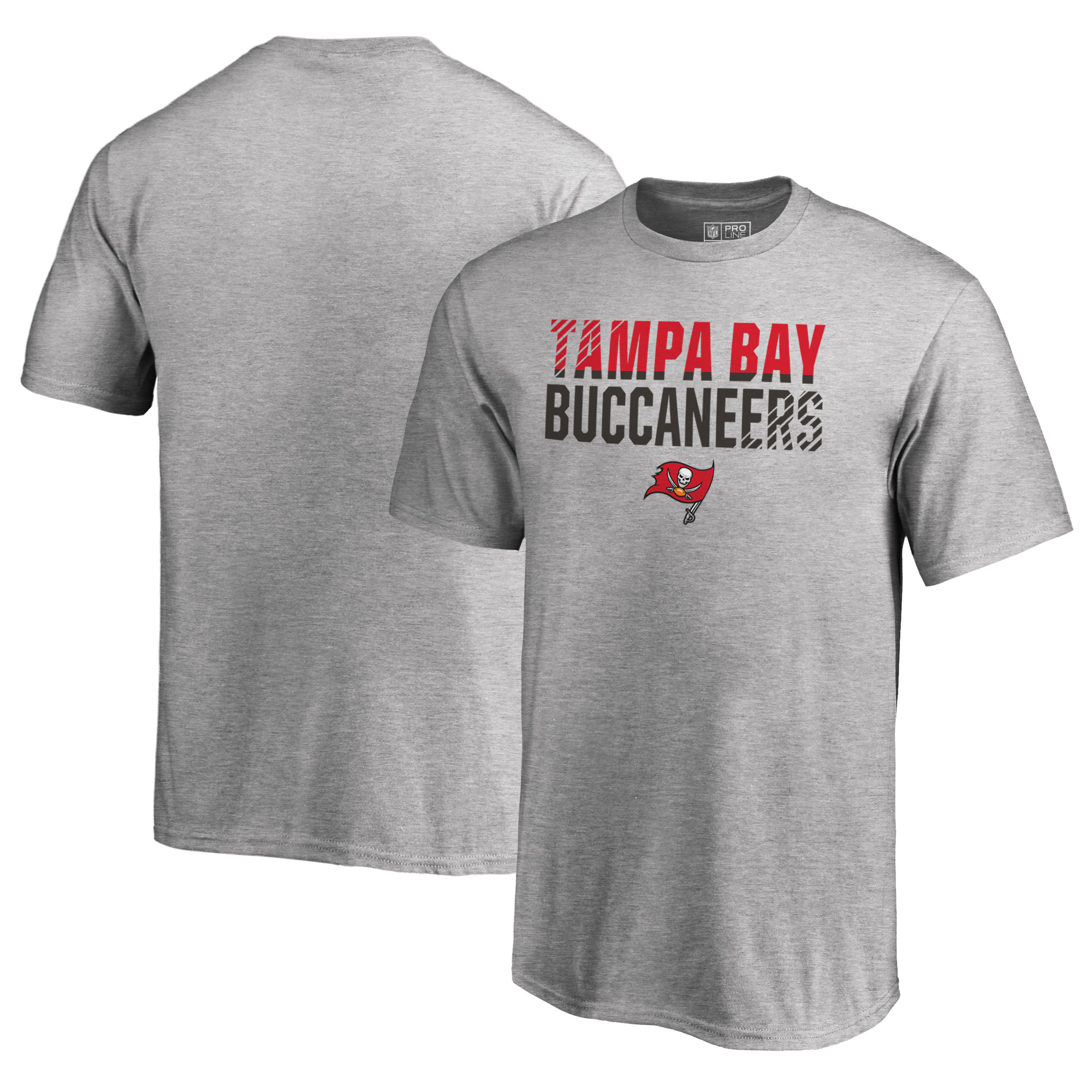 Tampa Bay Buccaneers NFL Pro Line by Fanatics Branded Youth Iconic Collection Fade Out T-Shirt - Ash