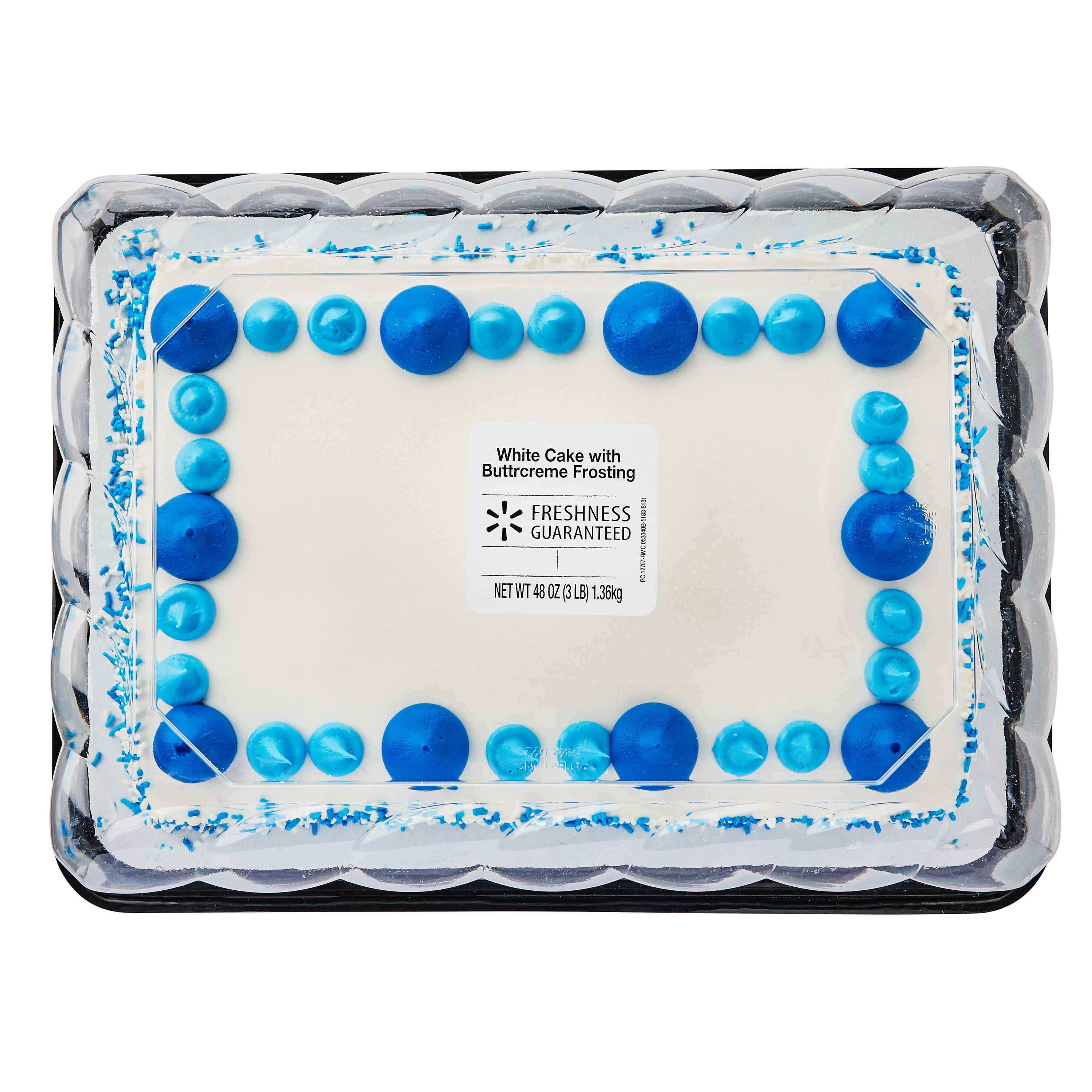 Stupendous Freshness Guaranteed White Cake With Buttrcreme Frosting 1 4 Funny Birthday Cards Online Overcheapnameinfo
