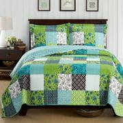 Rebekah Oversize Coverlet Garden Style Wrinkle-Free Reversible Quilt Set - Full/Queen
