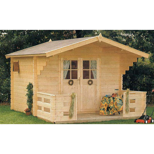 SolidBuild Douglas 9 ft. 9 in. W x 8 ft. 2 in. D Wooden Storage Shed