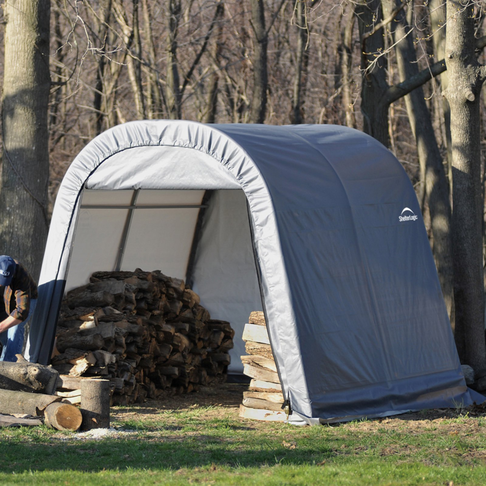 10' x 10' x 8' Round Style Shelter, Green