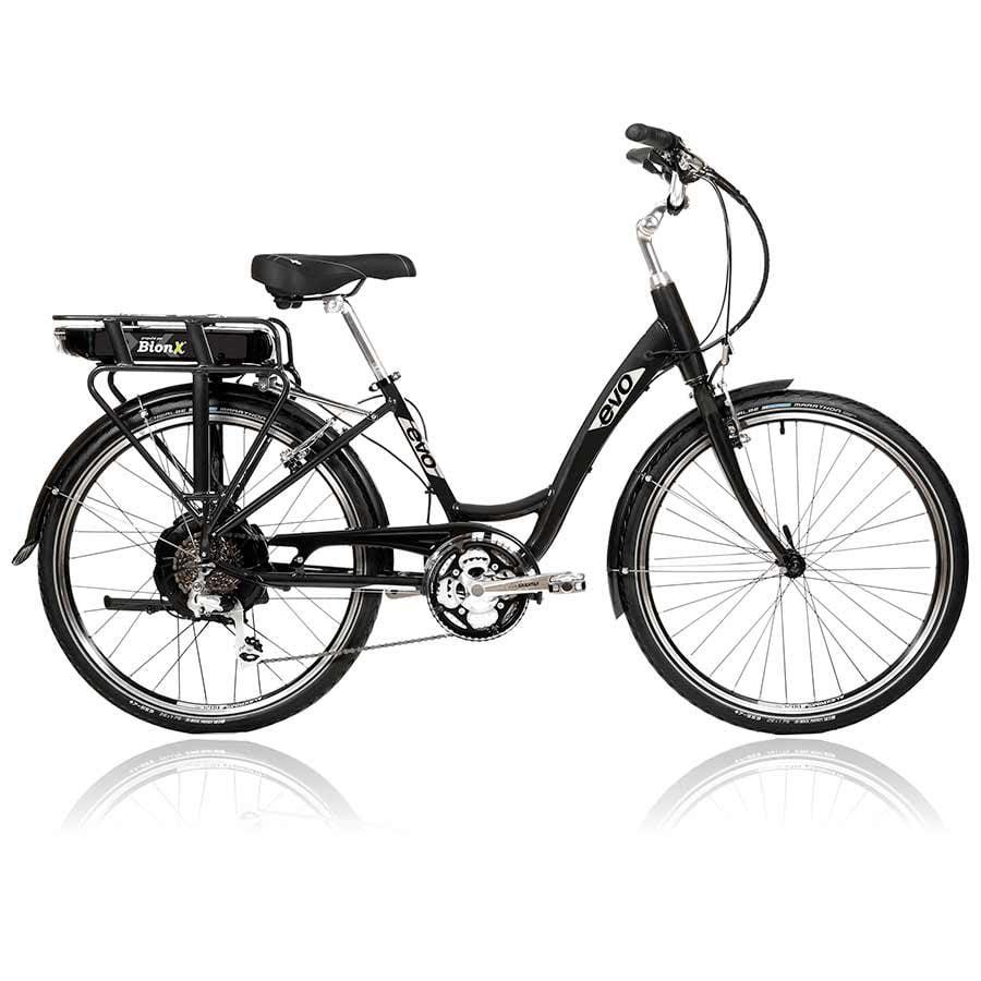 evo st1 step thru e bike bionx 48v x 6 4a battery charcoal