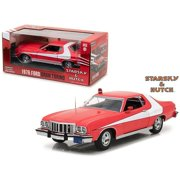 """1976 Ford Gran Torino Red """"Starsky and Hutch"""" (1975-1979) TV Series 1/24 Diecast Model Car by Greenlight"""