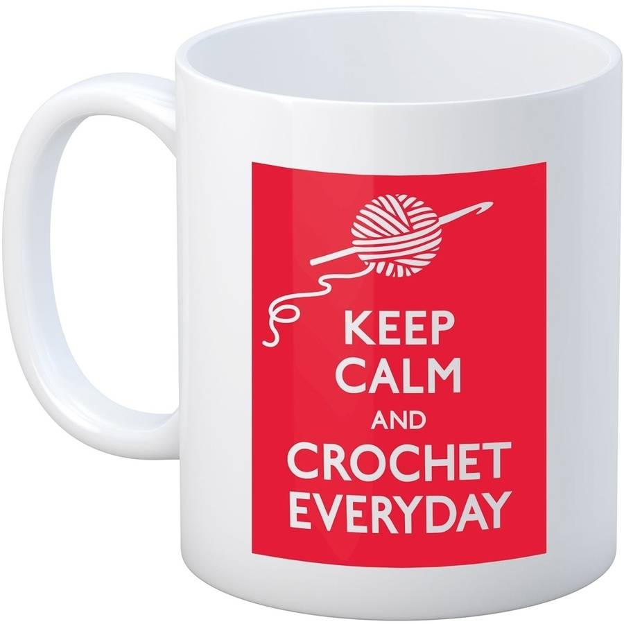 Crochet Happy Keep Calm Mug 11oz-Crochet