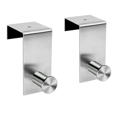 Over The Door Hooks Organizer Stainless Steel Removable Hanger Holder Rack For Bathroom Bedroom