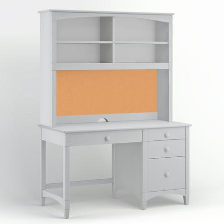Bolton Pedestal Desk Hutch Gray