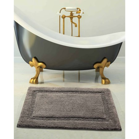 Textured White Bath Exhaust - Saffron Fabs Bath Rug 2-Piece Set Solid Color, Textured Border, Pattern Regency, Assorted Colors and Sizes