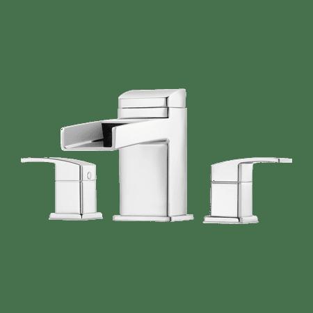 Pfister RT65DFC Kenzo 2-Handle Waterfall Spout Roman Tub Trim in Polished Chrome