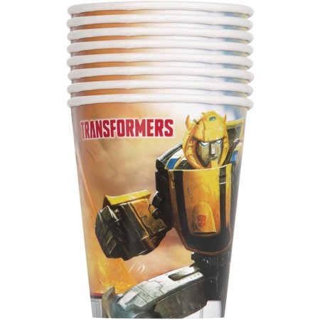 9oz Paper Transformers Cups, 8ct - Transformers Birthday