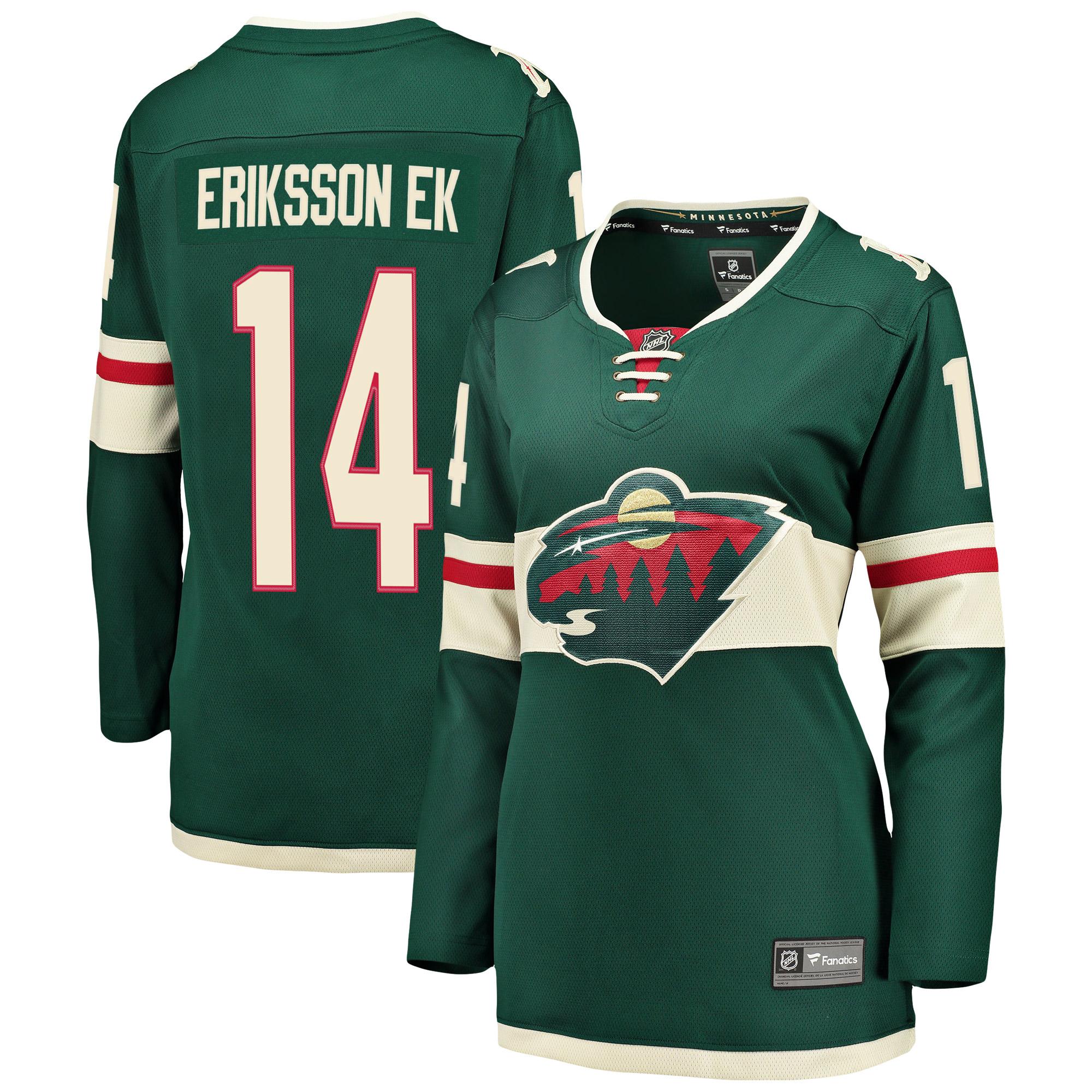 Joel Eriksson Ek Minnesota Wild Fanatics Branded Women's Breakaway Player Jersey - Green