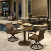 "Panama Jack 3 PC St Barths Bistro Swivel Set (2 Swivel Dining Chairs & 30"" Round woven table)"