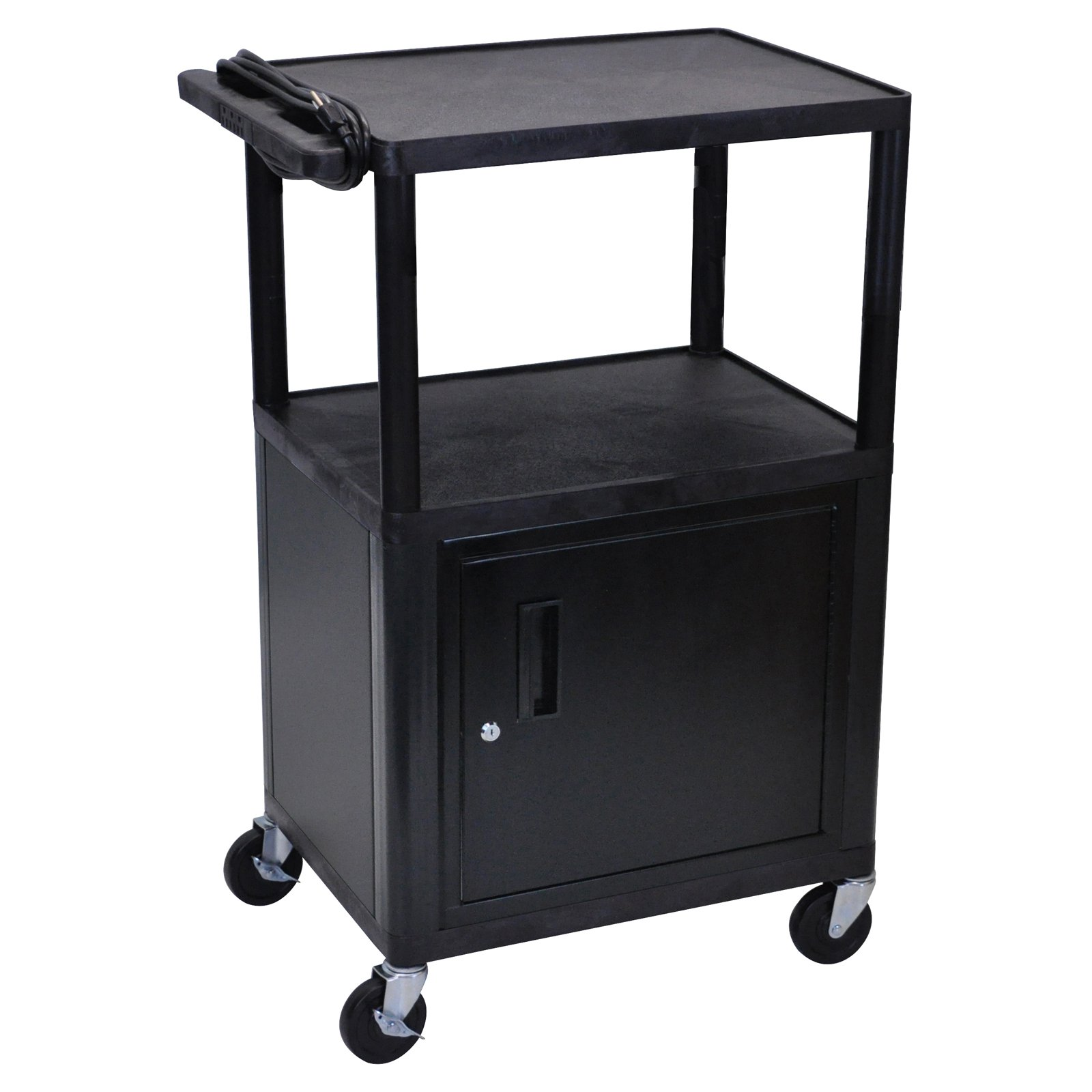 Luxor Black LP Electric Cart with Cabinet