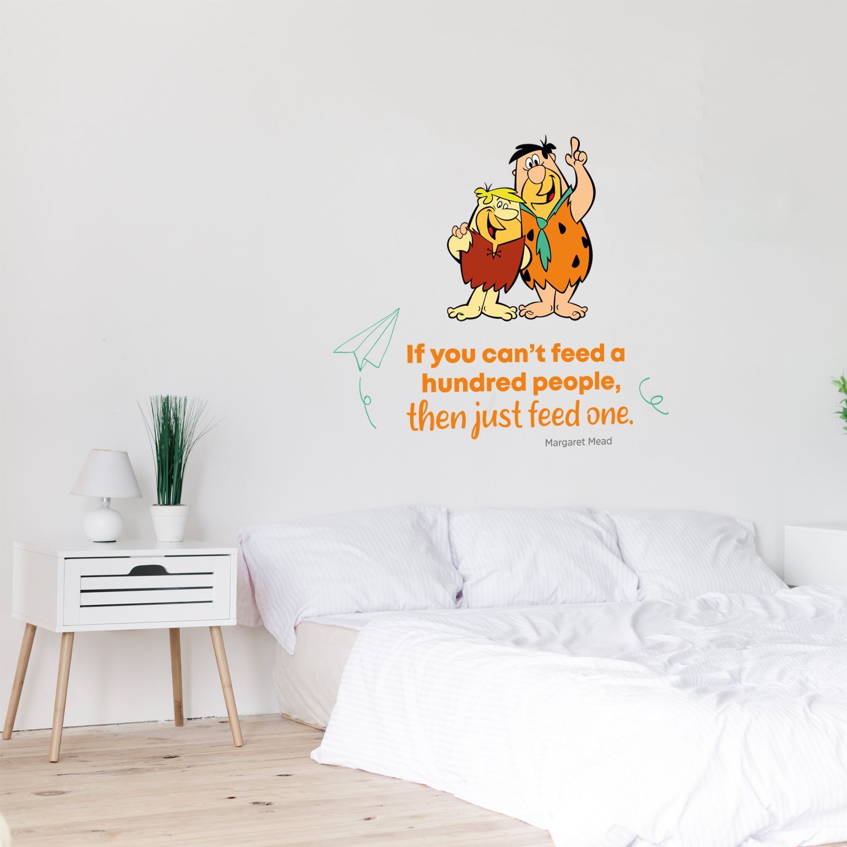 Feed One Flintstones Life Quote Cartoon Quotes Decors Wall Sticker Art Design Decal For Girls Boys Kids Room Bedroom Nursery Kindergarten Home Decor Stickers Wall Art Vinyl Decoration 20x18 Inch Walmart Com