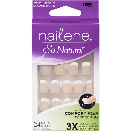 Nailene So Natural Short Length Artificial Nails, 71004, 27 pc