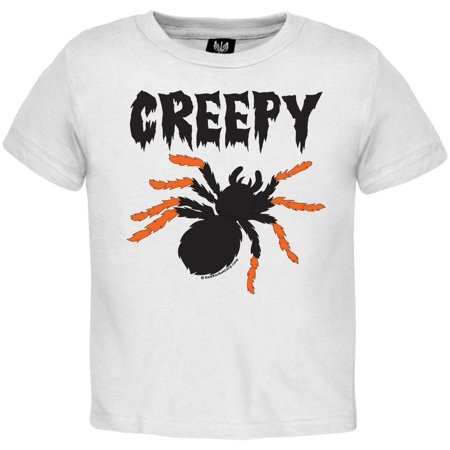 Halloween Creepy Spider Toddler T-Shirt - Really Creepy Halloween Makeup