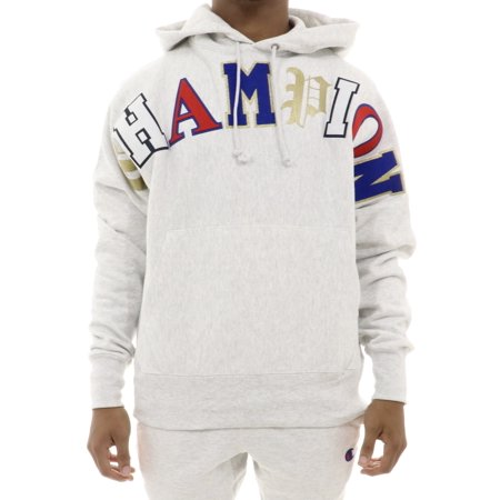 Champion RW Fleece Old English Pull Over Hoodie (Hoodie With Leather)
