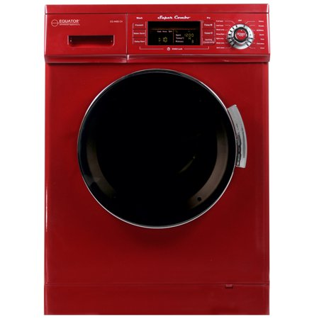 Equator 1 57 Cu Ft  Compact Convertible Super Combo Washer Condensing Drying  Merlot