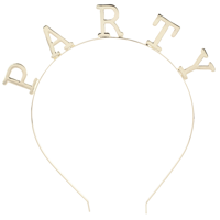 Lux Accessories Gold Tone Party Bachelorette NYE Birthday Party Favor Headband
