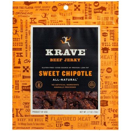 Krave Sweet Chipotle Beef Jerky, 2.7 oz - Walmart.com