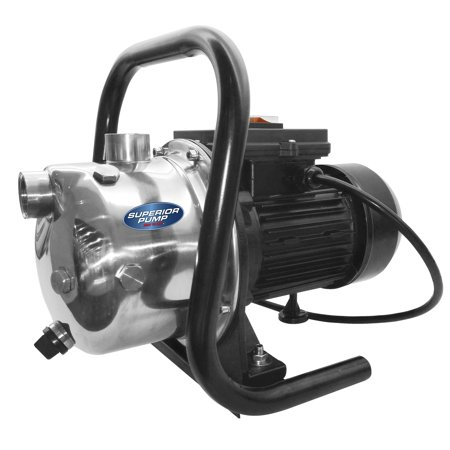 Superior Pump 96110 1 HP Portable Sprinkler Utility Pump w/ Garden Hose (Lawn Sprinkler Pump)