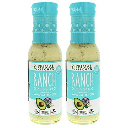 Primal Kitchen - Organic Ranch Dressing, Avocado Oil-Based, Vegan & Paleo Approved - (8 Oz X 2