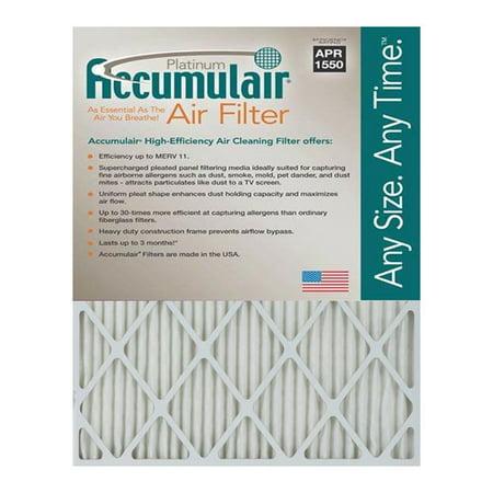 accumulair platinum 1-inch merv 11 air filter/furnace filters (3 ...