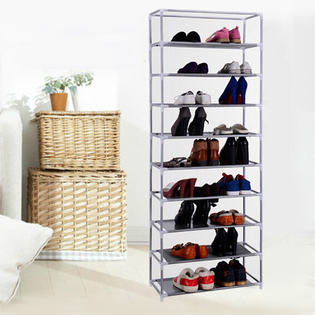 Shoe Rack Storage Organizer, Portable, Holds up to 50 Pairs of Shoes, Adjustable, Stackable up to 10 tiers
