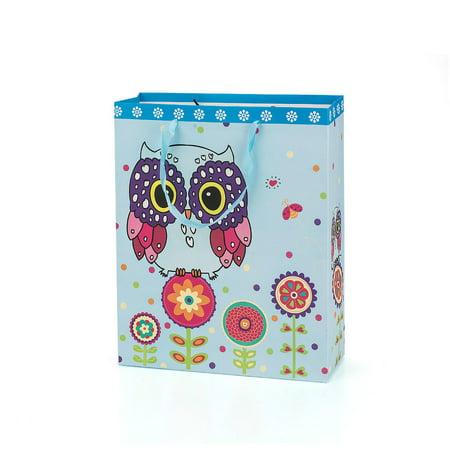 Gift Bag Present Bag Owl Design Medium Size Mix Pack 32*26*10cm 3Pcs LIVINGbasics™ - image 2 of 4