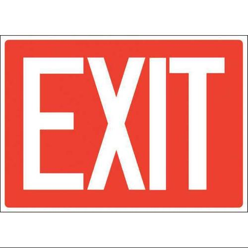 ACCUFORM SIGNS 219098-7X10S Exit Sign, Adhsv Vinyl, 7x10 In., English