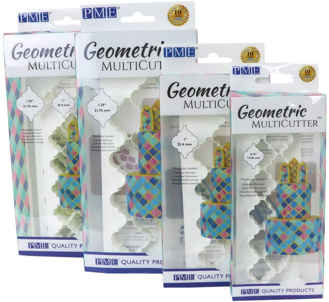Pme Gmc183 Geometric Multicutter Moroccan Lantern Large White Walmart Com Walmart Com