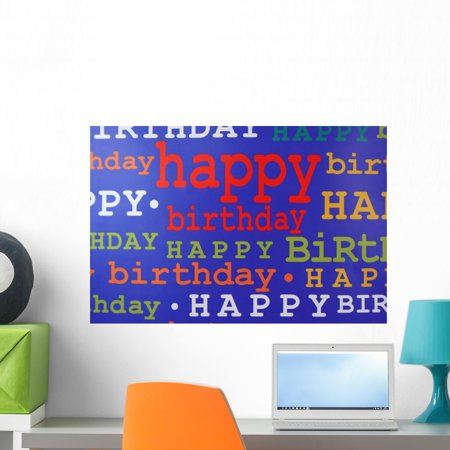 Happy Birthday Gift Bag Wall Mural By Wallmonkeys Peel And Stick Graphic 24 In W X 16 H WM200840