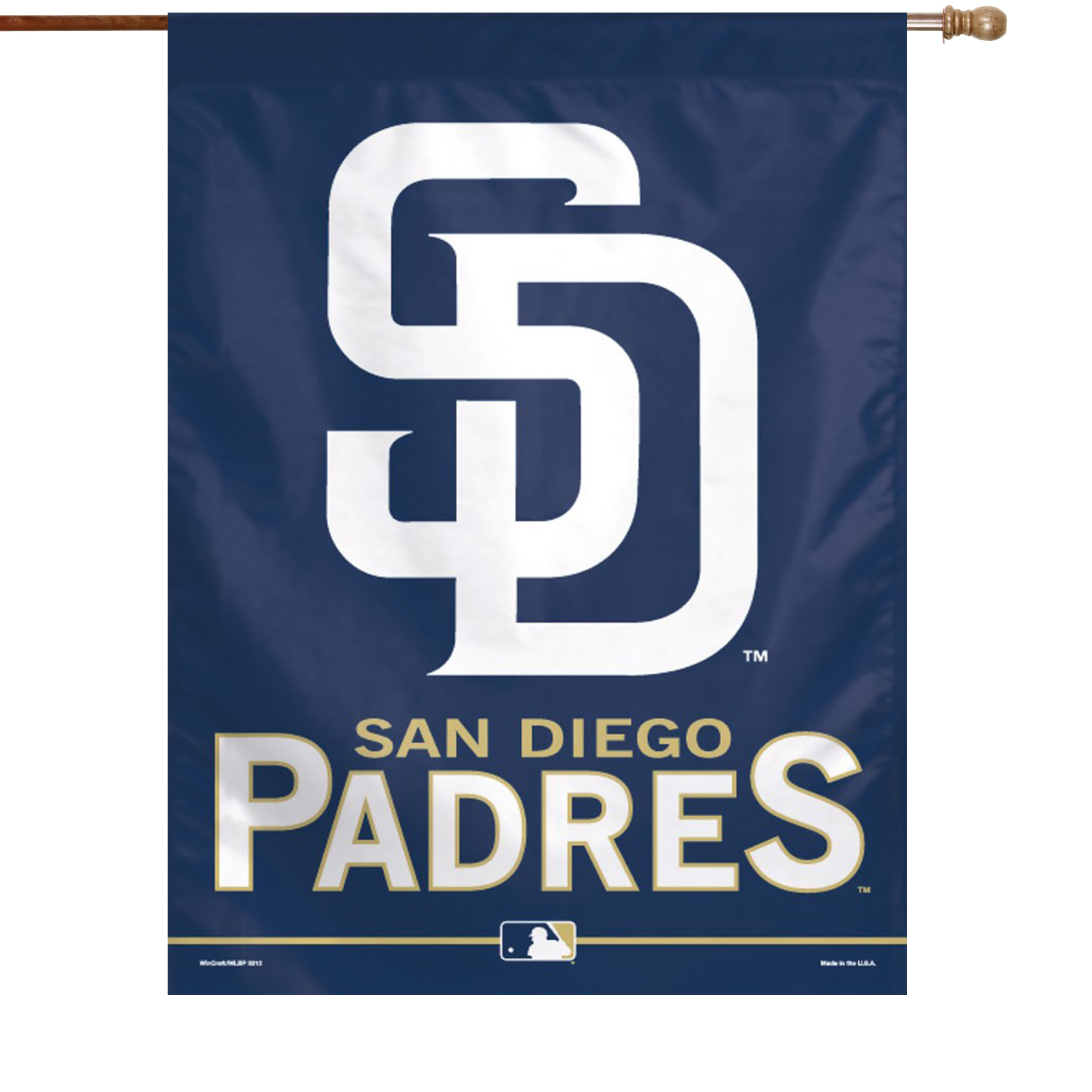 WinCraft San Diego Padres 27'' x 37'' Vertical Banner Flag - Navy Blue - No Size
