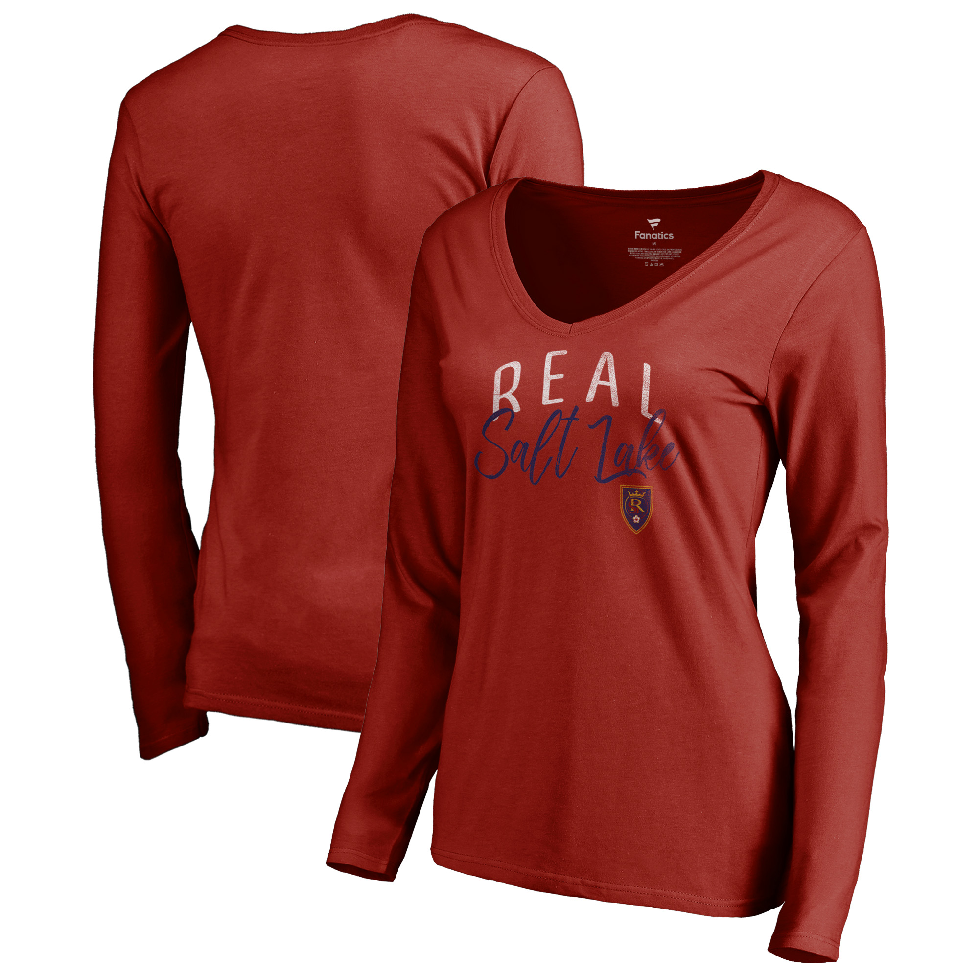 Real Salt Lake Fanatics Branded Women's Graceful V-Neck Long Sleeve T-Shirt - Red