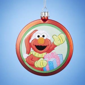 blow mold disc sesame street elmo christmas ornament