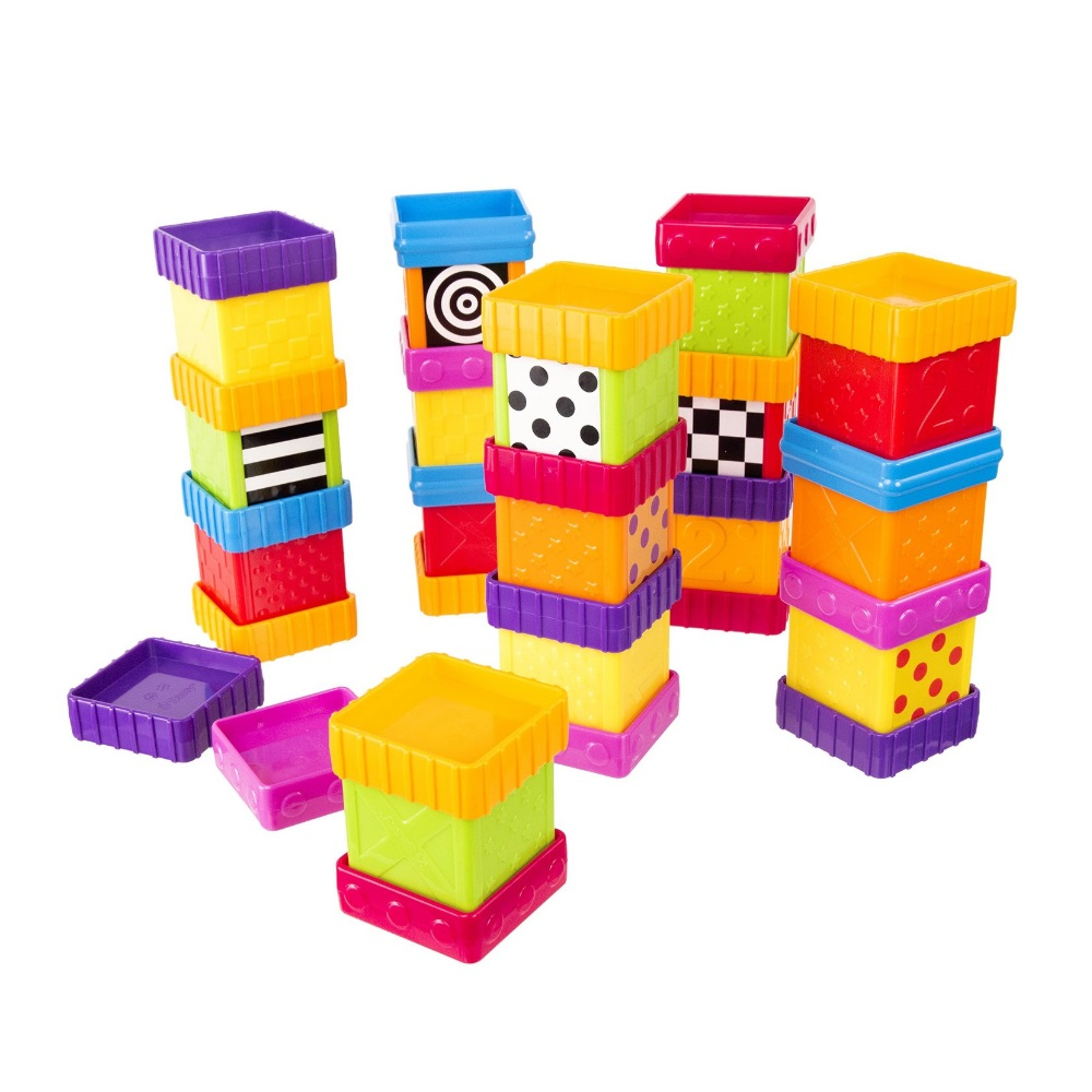Sassy Deluxe 40 Piece Build and Discover Block Set by Sassy