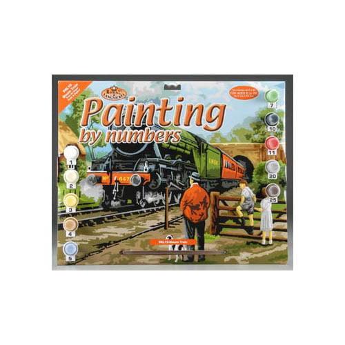 PAL15 PBN Steam Train 15x11-1/4 Multi-Colored