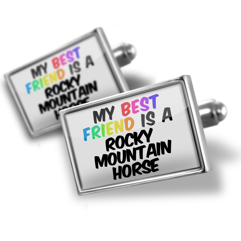 Cufflinks My best Friend a Rocky Mountain Horse - NEONBLOND