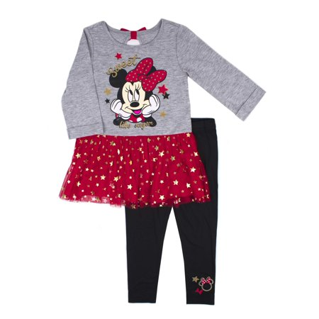 Jersey Foil Tulle Tunic & Legging, 2-Piece Outfit Set (Little Girls) - Tin Man Outfit