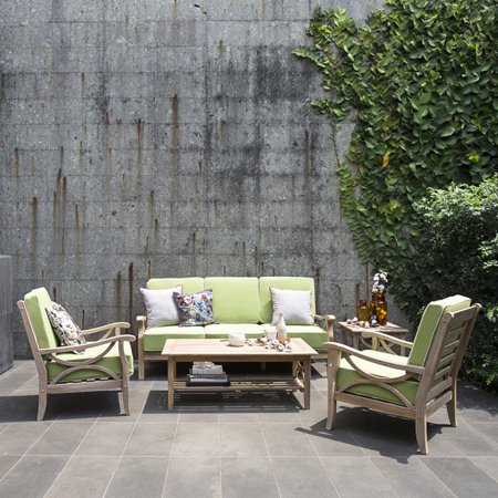 Cambridge Casual Teak Patio Sofa Conversation Set
