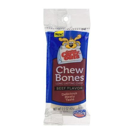Canine Carry Outs Chew Bones Beef Flavor Long Lasting Dog Snacks  Large Bones  Single Bone